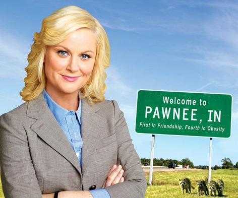 """PARKS & RECREATION -- Pictured: """"Pawnee: The Greatest Town in America"""" Book Cover -- NBC Photo"""